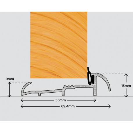 Exitex OUM4 Outward Open Door Sill 914mm - Gold