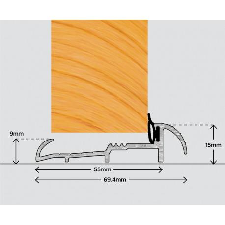 Exitex OUM4 Outward Open Door Sill 1219mm - Gold
