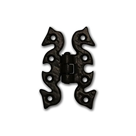 Trent 69mm x 50mm Butterfly Hinge Black Antique