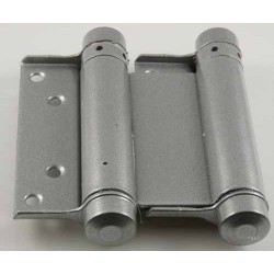 "3"" Double Action Swing Hinge - Silver Sprayed (For Doors 18mm-25mm Thick & Upto 15 Kilo's In Weight)"