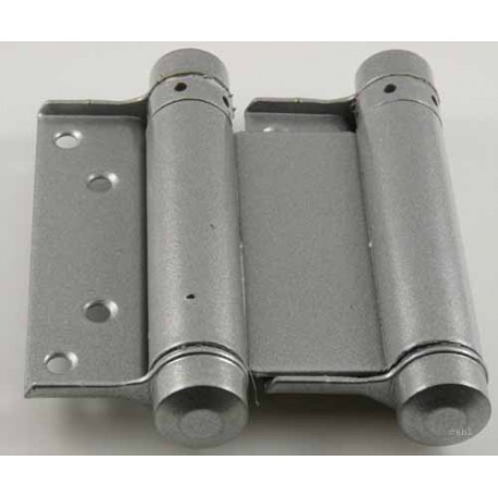 Jedo 75mm Double Action Swing Hinge Silver