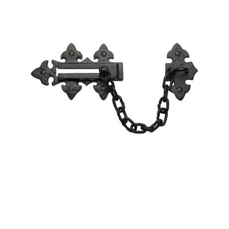 Trent Fleur-De-Lys Door Chain - Black Antique