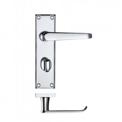 Victorian Straight Lever Bathroom Door Handle Polished Chrome
