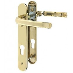 Pro-Linea Sprung Multipoint Lock Door Handle c/w 92mm Centres Polished Brass