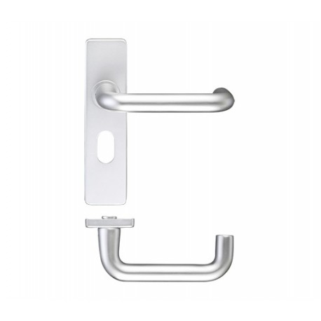 19mm Dia. Return To Door Lever On 8mm Concealed Oval Backplate c/w Bolt Fixings & 48mm Centres S.A.A