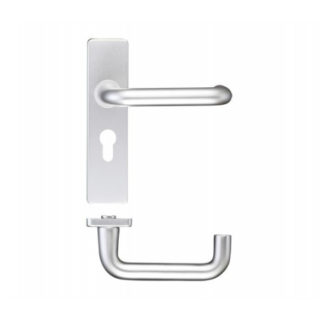 19mm Dia. Return To Door Lever on Euro Backplate S.A.A