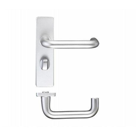 19mm Dia. Return To Door Lever on Bathroom Backplate S.A.A