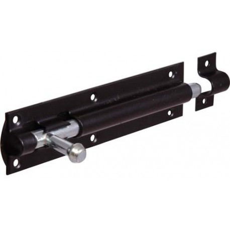 203mm Straight Tower Bolt - Black