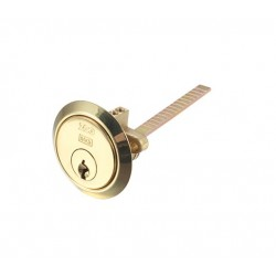 Standard Rim Cylinder Keyed To Differ Polished Brass