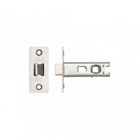 75mm Tubular Mortice Latch c/w 57mm Backset Satin Stainless Steel