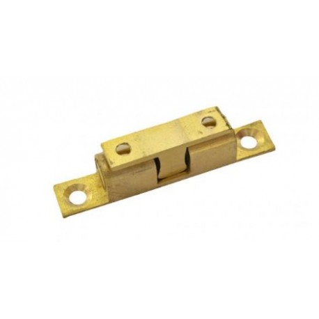 50mm Adjustable Double Ball Catch Polished Brass