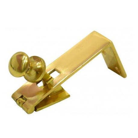 85mm Counter Flap Catch Polished Brass