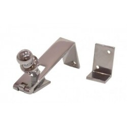 85mm Counter Flap Catch c/w Striker - Plate - Polished Chrome
