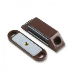 60mm x 16mm Magnetic Catch with 14lb Pull Brown Plastic