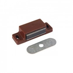 Magnetic Catch with 10lb Pull Brown Plastic