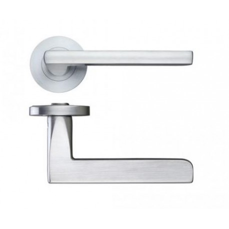 Venice Lever On Screw On Round Rose - Satin Chrome