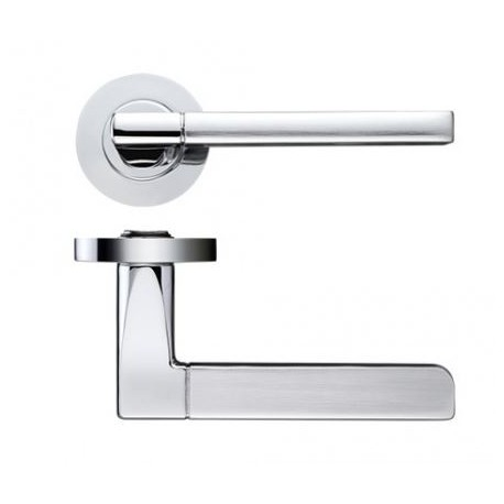 Venice Lever On Screw On Round Rose - Dual Finish