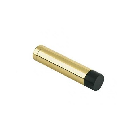 70mm Wall Mounted Cylinder Door Stop Without Rose Polished Brass
