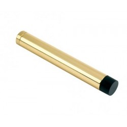 105mm Wall Mounted Cylinder Door   Stop Without Rose Polished Brass