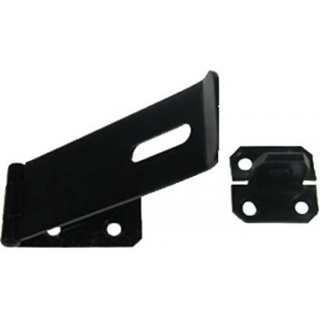 152mm Epoxy Black Safety Hasp & Staple