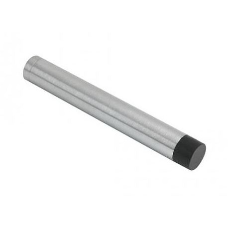 105mm Wall Mounted Cylinder Door Stop Without Rose Satin Chrome