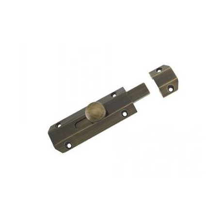 102mm x 35mm Surface Mounted Bolt c/w3 Keeps For Various Applications - Florentine Bronze