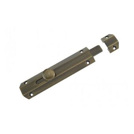 152mm x 35mm Surface Mounted Bolt c/w3 Keeps For Various Applications - Florentine Bronze