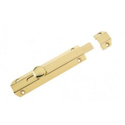 150mm Surface Mounted Door Bolt Polished Brass