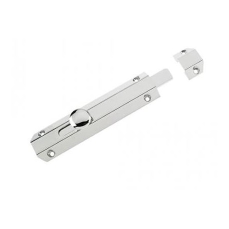 150mm Surface Mounted Door Bolt Polished Chrome