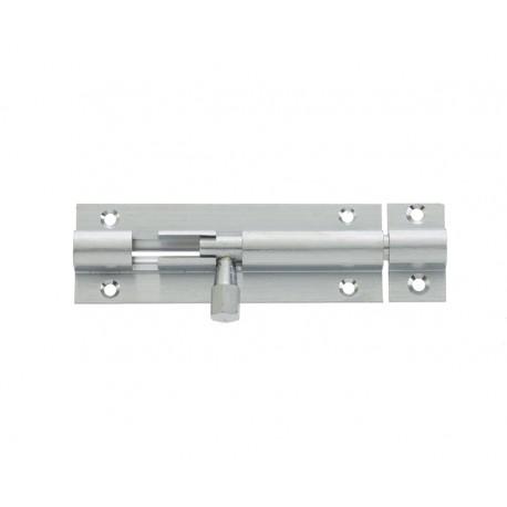 100mm x 25mm Straight Barrel Bolt c/w Standard Keep - S.A.A.