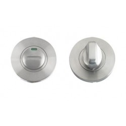52mm Dia. Bathroom Turn & Emergency Release c/w Indicator Satin Stainless Steel