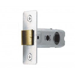 63mm Nickel Plated Tubular Mortice  Latch