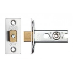 64mm Tubular Mortice Bathroom Deadbolt c/w 44.5mm Backset & 5mm Follower Satin Stainless Steel