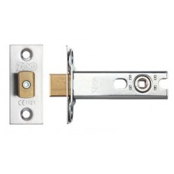 76mm Tubular Mortice Bathroom Deadbolt c/w 57mm Backset & 5mm  Follower Satin Stainless Steel