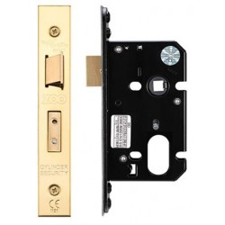 64mm Oval Profile Mortice Sashlock Case c/w 48.5mm Centres & 44.5mm Backset Polished Brass