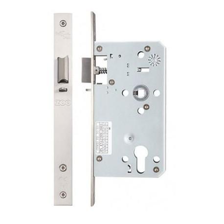 DIN Standard 60mm Backset Euro Profile Nightlatch Case c/w 72mm Centres Satin Stainless Steel