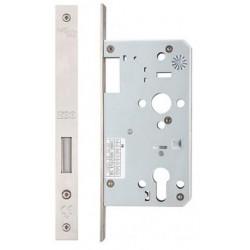 DIN Standard 60mm Backset Euro Profile Deadlock Case Satin Stainless Steel