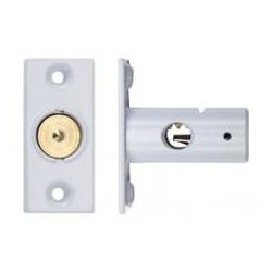 37mm Window Security Bolt c/w 17mm Backset White Powder Coated