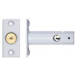 60mm Door Security Bolt c/w 32mm Backset White Powder Coated