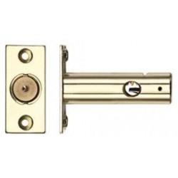 60mm Door Security Bolt c/w 32mm Backset Polished Brass