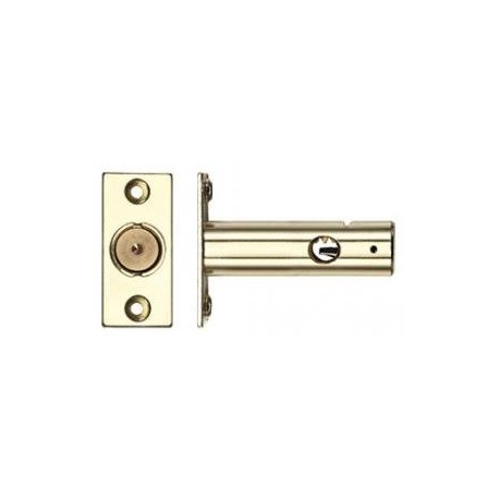 60mm Door Security Bolt c/w 32mm Backset Polished Brass