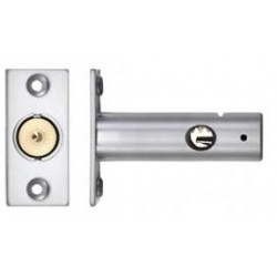 60mm Door Security Bolt c/w 32mm Backset Satin Chrome