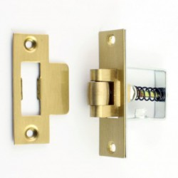 Jedo 50mm Heavy Duty Roller Bolt Latch Polished Brass