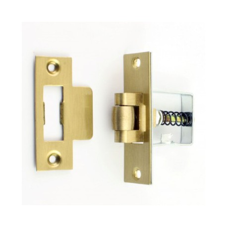 "2"" (50mm) Heavy Duty Roller Bolt Latch - Polished Brass"