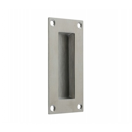 100mm Flush Pull Handle Satin Stainless Steel
