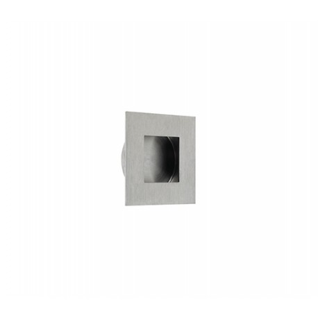 40mm x 40mm Square Flush Pull Satin Stainless Steel