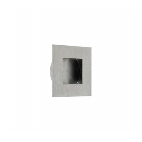 50mm x 50mm Square Flush Pull Satin Stainless Steel