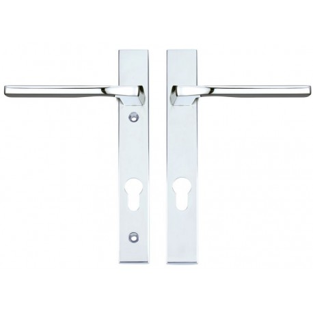 Vela Unsprung Multipoint Door Handle On 220mm x 32mm Backplate c/w 92mm Centres Satin Chrome