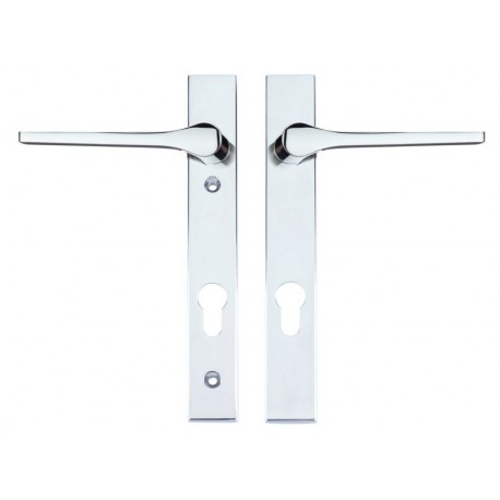 Draco Unsprung Multipoint Door Handle On 220mm x 32mm Backplate   c/w 92mm Centres Polished Chrome