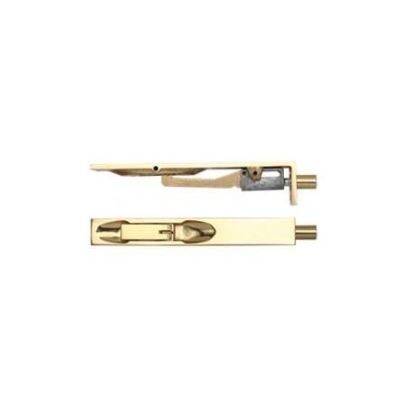 150mm Lever Action Flush Bolt Polished Brass